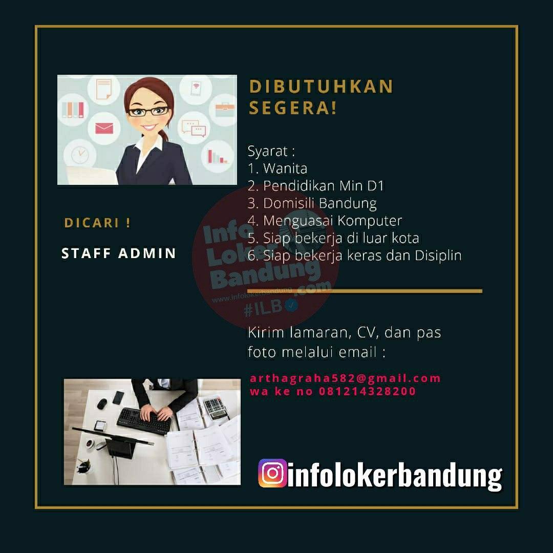 Lowongan Kerja Staff Admin CV. Artha Graha Bandung Juni 2020