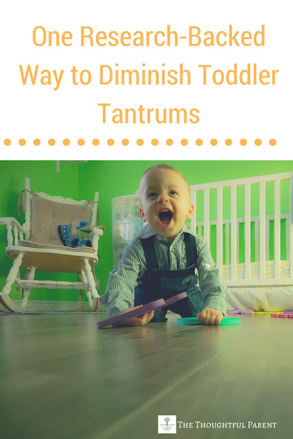 One Research-Backed Way to Diminish Toddler Tantrums