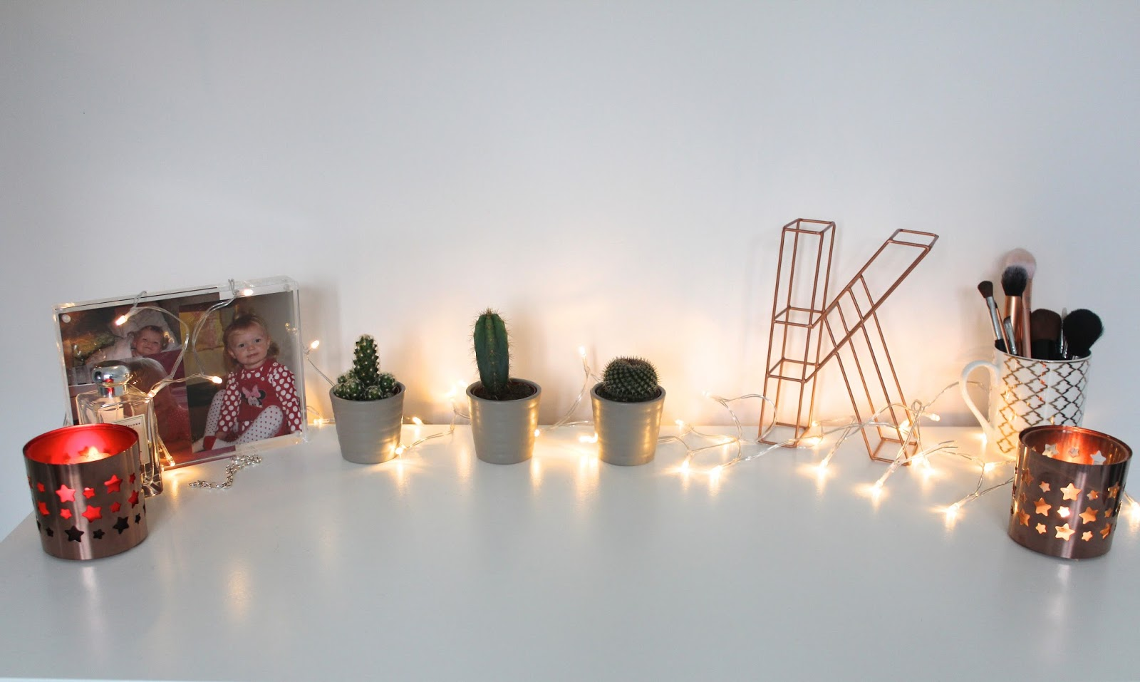 homeware home ikea oliver bonas muji primark christmas bedroom budget inspo inspiration decorating cacti cactus candle candles blog blogger blogger bbloggers lbloggers lifestyle fairy lights kirstie pickering copper rose gold tesco