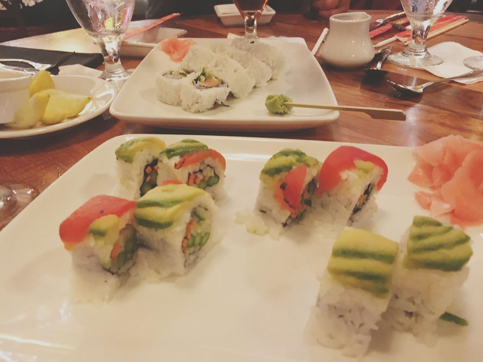 sushi at Kona Cafe in Disney World, Florida