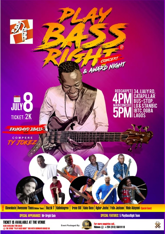 Play Bass Right Concert-Ekundayo Akomolafe Dbass