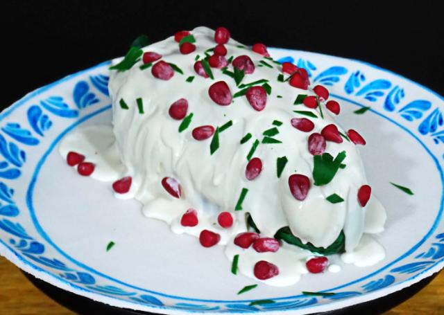 Pastel CHILE EN NOGADA [decoración]