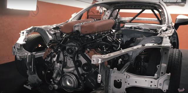 tampilan super car yang melekat padanya dirasa kurang Modifikasi Mobil Sport Toyota GT 86 Rasa Ferrari, Sangar!