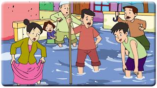 sumbatan, air, dan banjir