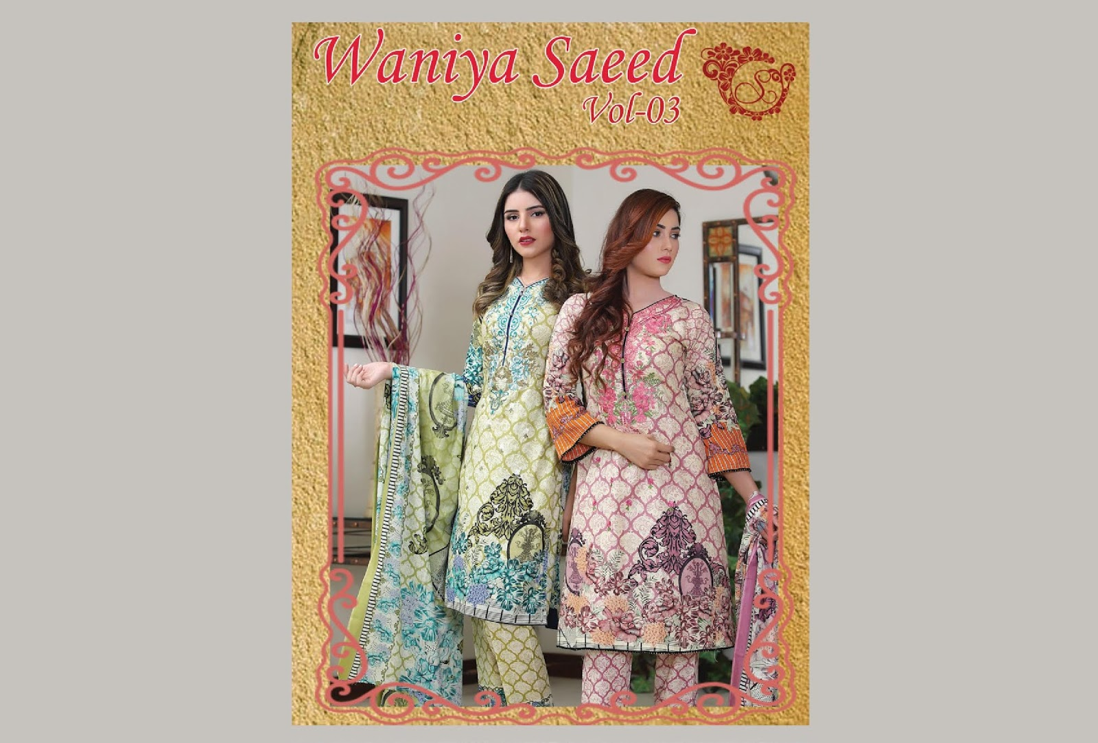 3730914bf6 4Seasons Fashion: Waniya Saeed Embroidered Lawn Collection 2019 Vol 03
