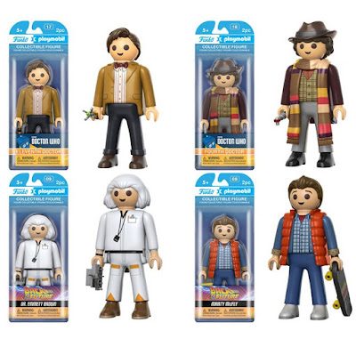 Funko x Playmobil 6 Inch Action Figures - Teenage Mutant Ninja Turtles, Back to the Future, Ghostbusters, Doctor Who and Willy Wonka