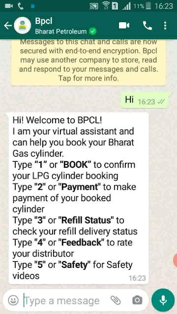 how_to_book_gas_through_whatsapp