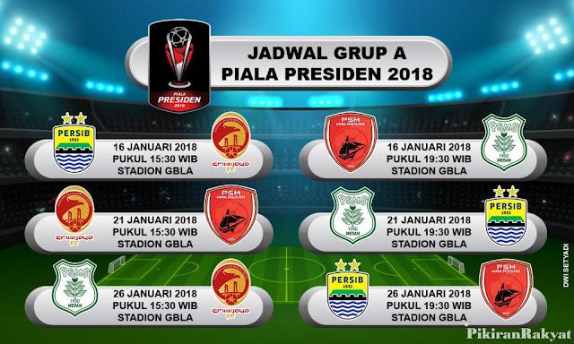Jadwal Persib Bandung Piala Presiden 2018