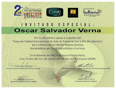 Oscar Salvador Verna invitado especial