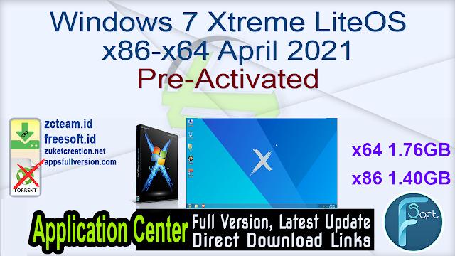 Windows 7 Xtreme LiteOS x86-x64 April 2021 Pre-Activated_ ZcTeam.id