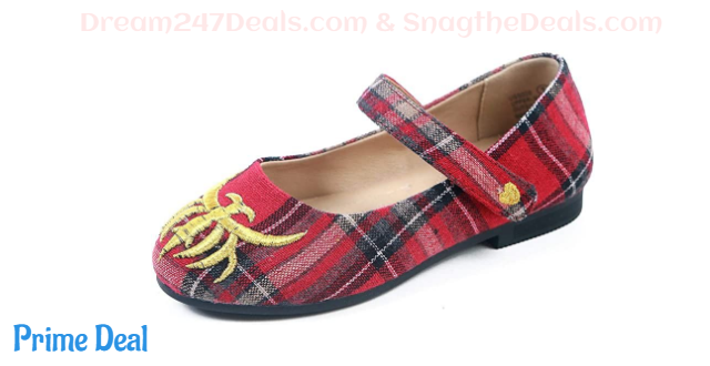 55% Off  DBAYLE Baby Girls Mary Jane Flats Soft Sole Floral Princess Plaid Girls Shoes (Little/Big Kids)
