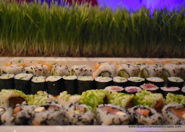 Japanese rolls in Bamboo Lagoon Dubai