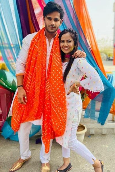 Roopal Tyagi with Jeevansh Chadha