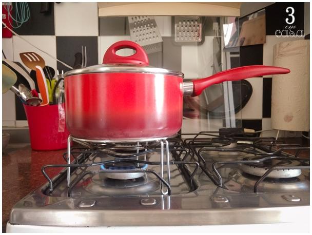 como cozinhar com o fogo mais baixo que o mínimo do fogão