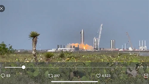 Starship SN15 static fire test (Source: Mary & @NASASpaceFlight)