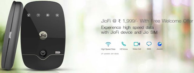 JioFi Price Dropped Now Available @ Rs.1,999/- With Free Welcome Offer