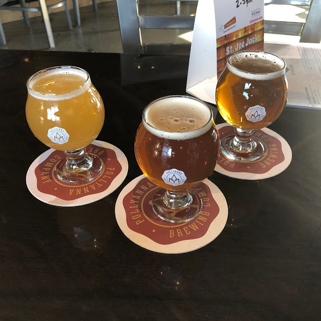 A trio of brews from Pollyanna from a tasting last holiday season.