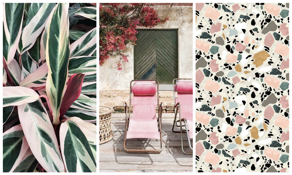 Spring vibes: pink + green