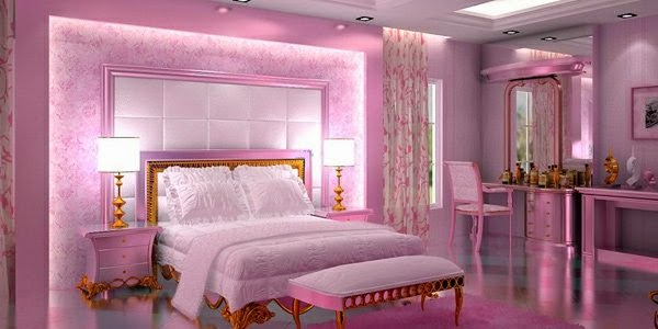 Bedroom Wall Decor Ideas: Romantic Bedroom With Wonderful Curtain