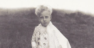 WG Sebald's Austerlitz, front cover photo of young boy