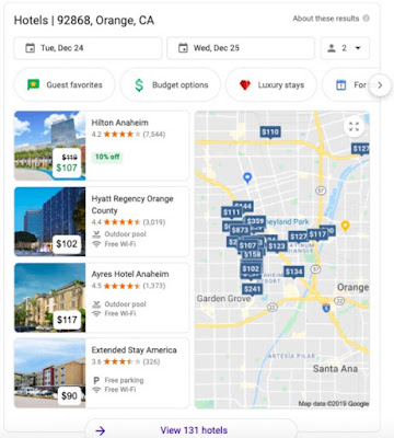 Même s'il ressemble au pack local, le pack hôtel est en réalité un portail vers une expérience de recherche complètement différente.