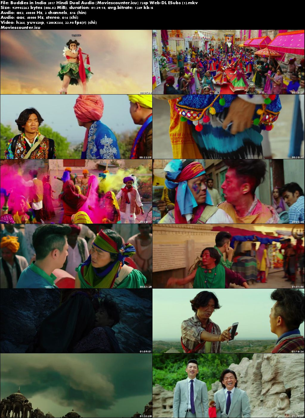 Screen Shots Buddies in India 2017 Dual Audio HD 720p