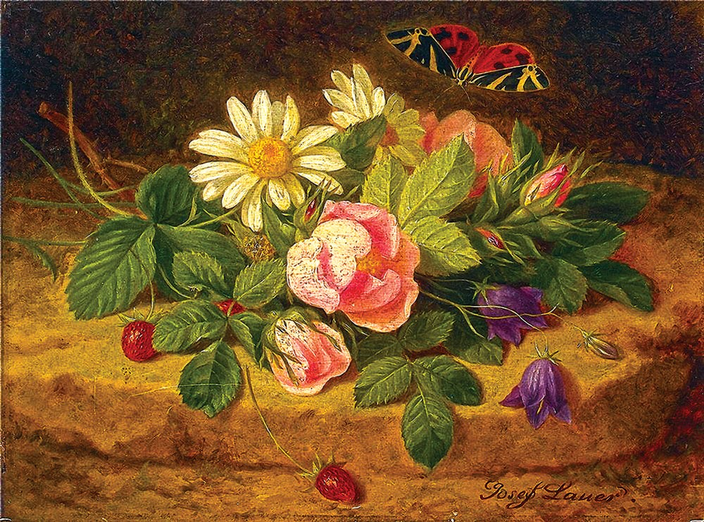 Pinturas lindas com flores