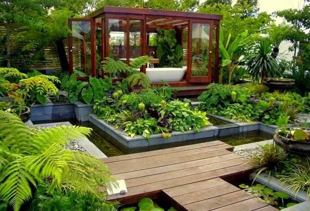 Двор-сад, дизайн