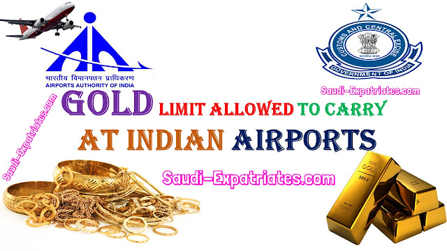 LIMIT OF GOLD INDIANS CAN CARRY AT AIRPORTS