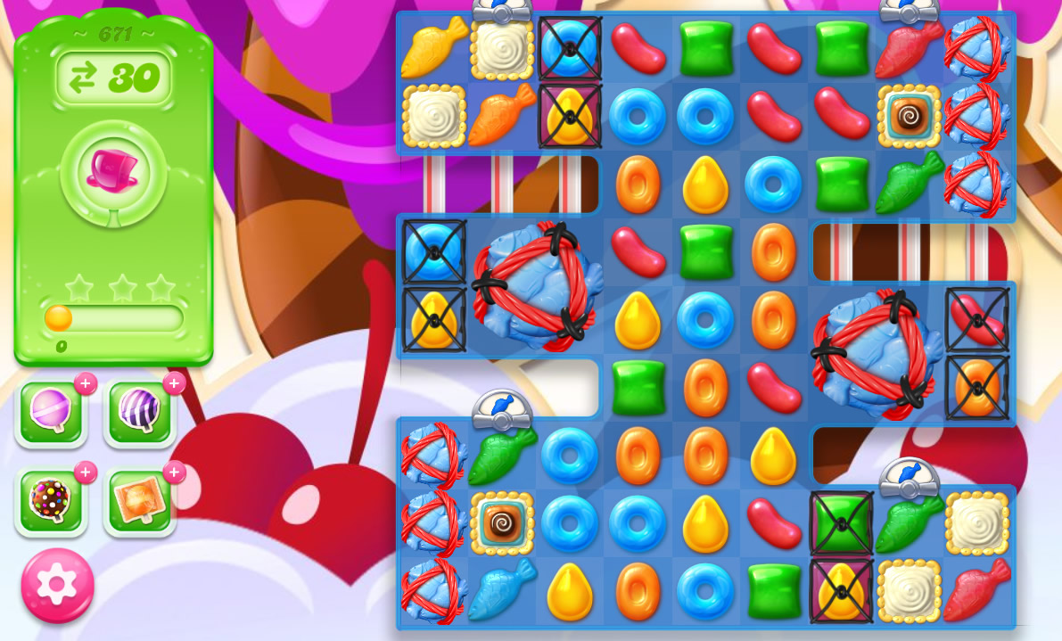 Candy Crush Jelly Saga level 671