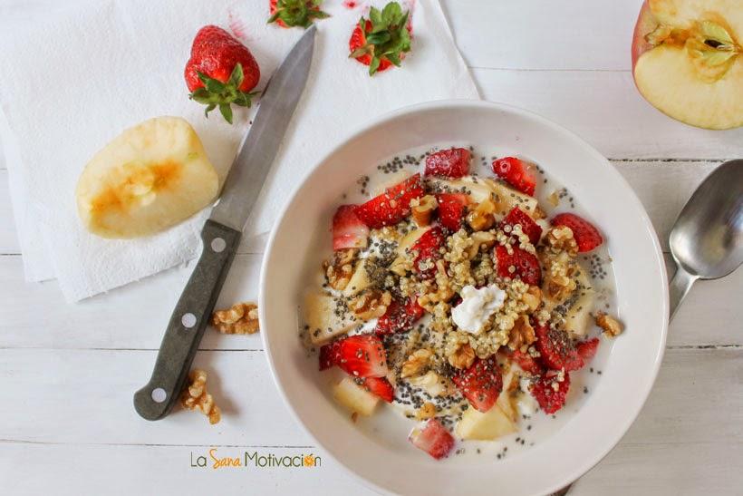 Quinoa con fruta y yogurt