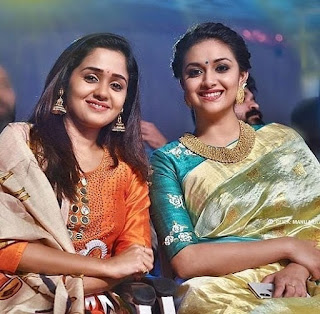 Keerthy Suresh in Saree at AsianetFilmAwards