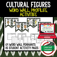 Cultural History Profiles & Activity Pages (History) Digital Google Option, Word Wall