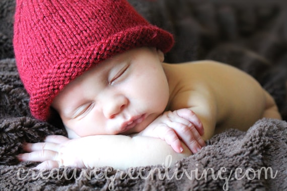 Adorable newborn baby photo