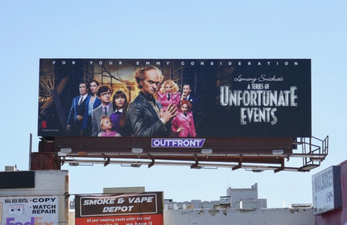 Unfortunate Events 2019 Emmy FYC billboard