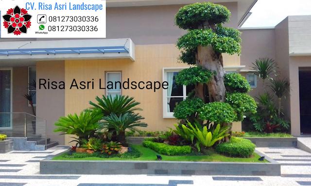 cv. risa asri landscape gambar desain taman rumah mewah minimalis, tropis, cantik keren