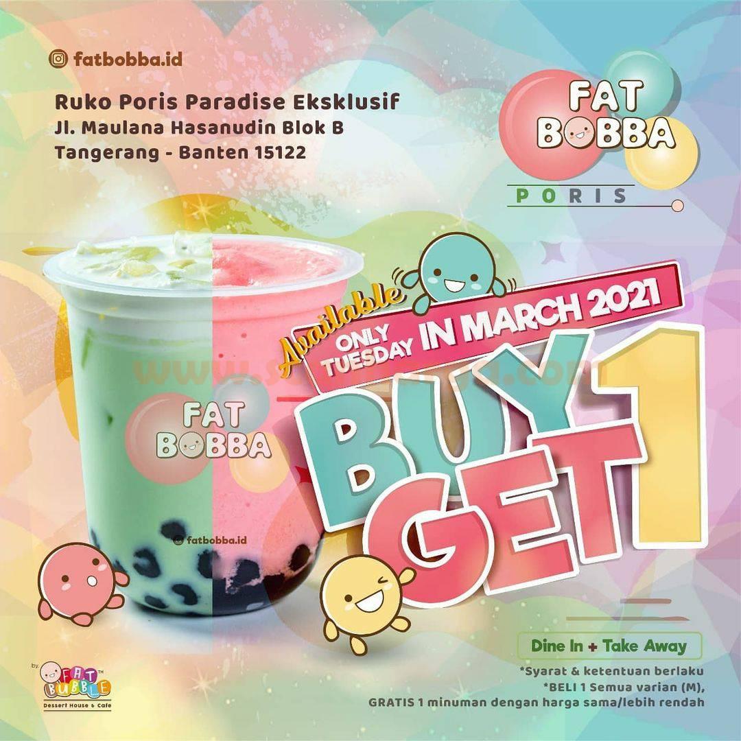 FAT BOBBA PORIS Promo BELI 1 GRATIS 1 All Variant