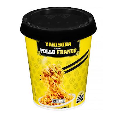 Fideos orientales Yakisoba sabor pollo Hacendado