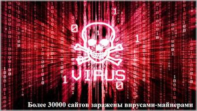 Более 30000 сайтов заражены вирусами-майнерами