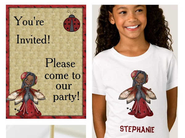 Designer Spotlight : JD Creative Gifts - Adorable Ladybug Faerie Girl Party Collection