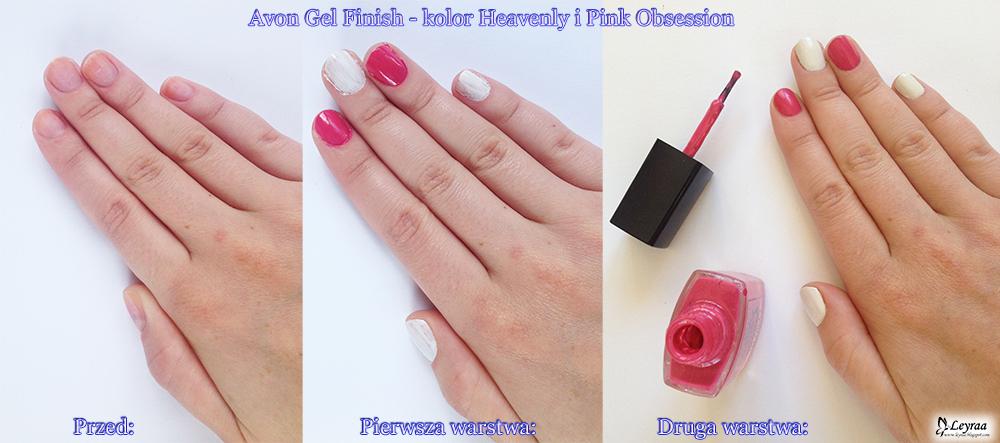 Avon Gel Finish - kolor Heavenly i Pink Obsession