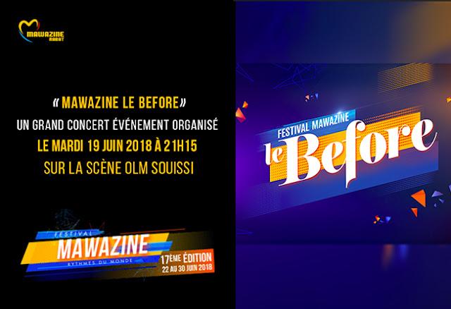 Le Before de Mawazine, un grand concert événement organisé mardi 19 juin