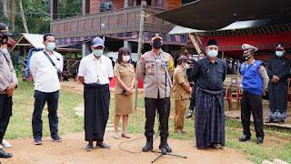 Kapolres Tator Bersama Satgas Covid-19 Hentikan Pesta Rambu Solo' di Sangalla Selatan dan Utara