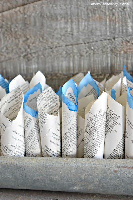 Super easy DIY painted book page home decor to add that perfect farmhouse accent - One Mile Home Style