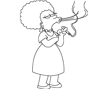 #2 The Simpsons Coloring Page