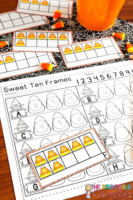 You're going to love the great Halloween activities for Kindergarten included at this post! You'll find great Halloween book recommendations for young learners, letter sound practice, uppercase & lowercase letter practice, counting numbers, letter formation, ten frames, comparing numbers, making five, number order, rhyming, syllables, beginning sounds, and MORE math & literacy fun! Did I mention there are FREE items for you to download too? Click through now to get yours to use all October long!