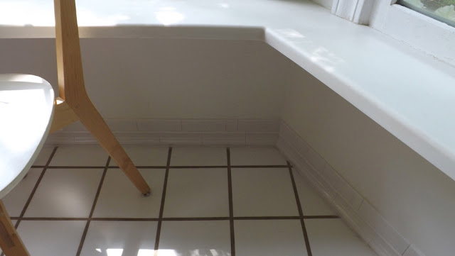Mariettes Back To Basics Tile Baseboard In Our Kitchen