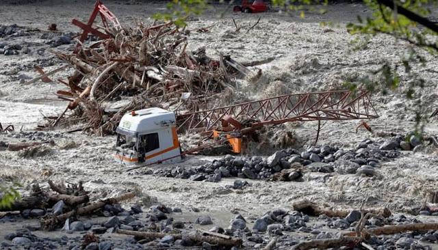 Fuertes lluvias en Francia e Italia deja dos muertos y nueve desaparecidos