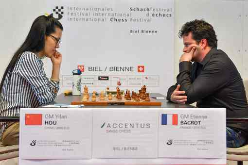 Ronde 7, le Français Etienne Bacrot perd contre Yifan Hou (2666) - Photo © site officiel