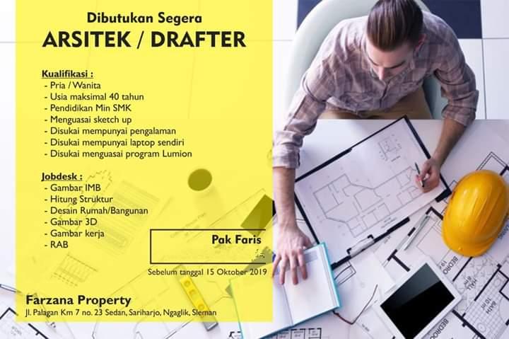 Lowongan Kerja Arsitek Drafter Farzana Property Jogja September Oktober 2019 Loker Swasta